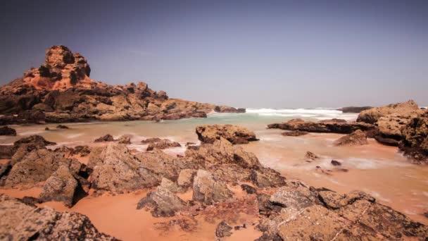 Sea waves crashing on beach rock  Waves crashing on rocks  Sea tide on beach