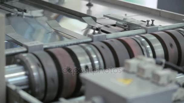 Tovární výrobní zařízení. Výrobní stroj. Průmysl výroby