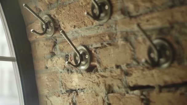 Vintage Kleding Haak Op Bakstenen Muur Muur Kleding Hanger Vintage