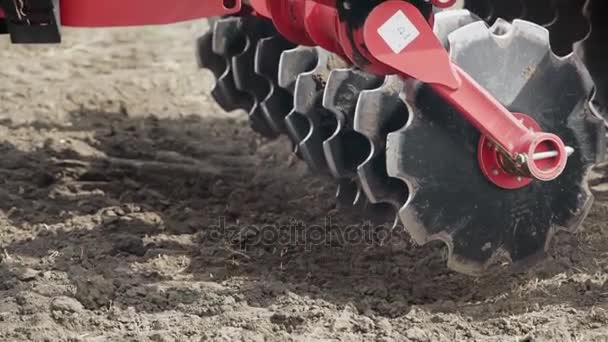 Plow blades sowing machine. Farming machinery. Agricultural equipment