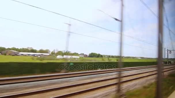 Železniční vlak rychlost pohybu. Rychlá železniční cesty. Vysokorychlostní vlak