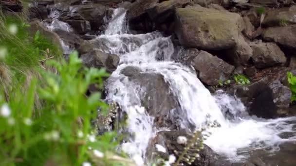 Vodopádem padat dolů kopce a proměnit v malé jezero. Wterfall stream na kámen