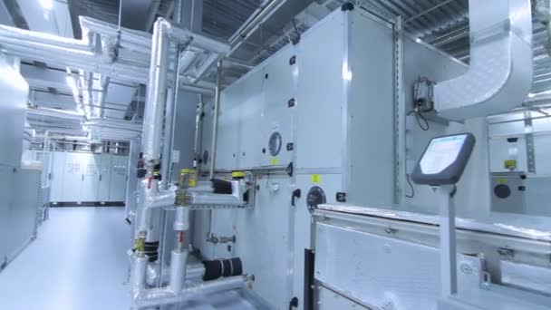 Pharmaceutical factory. Medical factory interior. Modern industrial equipment