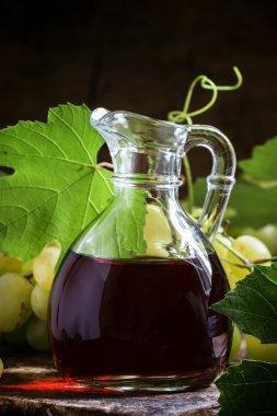 Wine vinegar in a jug.