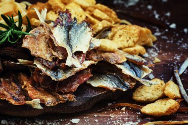 Dried fish to beer