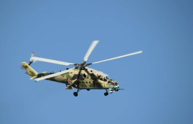 Russian combat helicopter