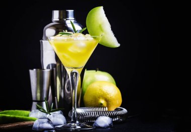 Alcoholic cocktail apple martini
