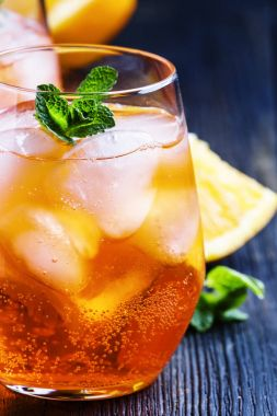 Italian cocktail with aperitif