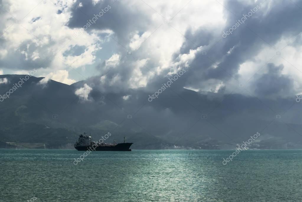 Cargo ship in the Black Sea