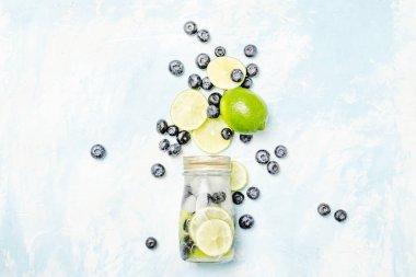 Lime-blueberry lemonade