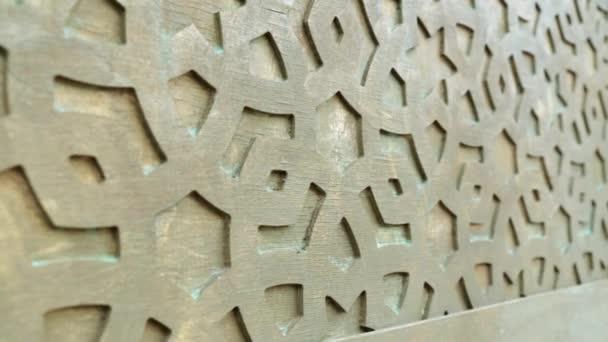 A keleti stílusú dekoráció-fal. Dekoratív mintát a falon