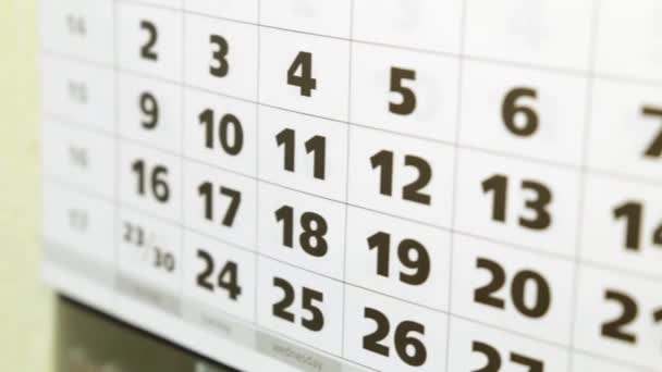 Calendar at the office, dates and numbers. Time, business, finances.