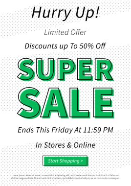 Vector Super Sale Discounts banner