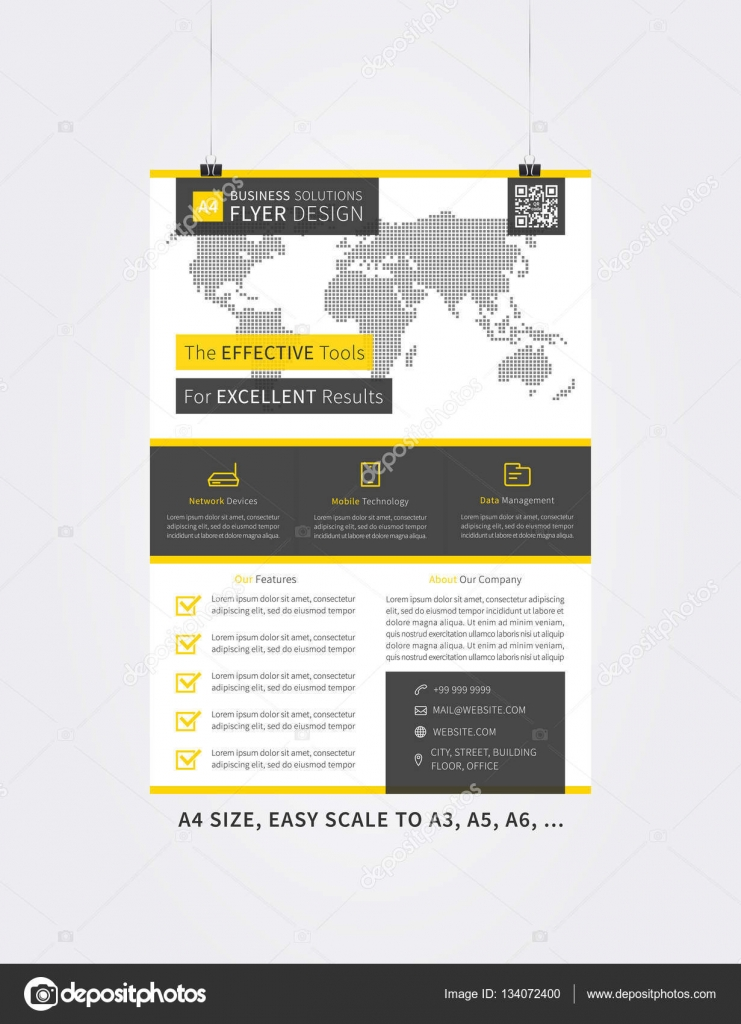 Corporate Leaflet Template Creative Design Stock Vector