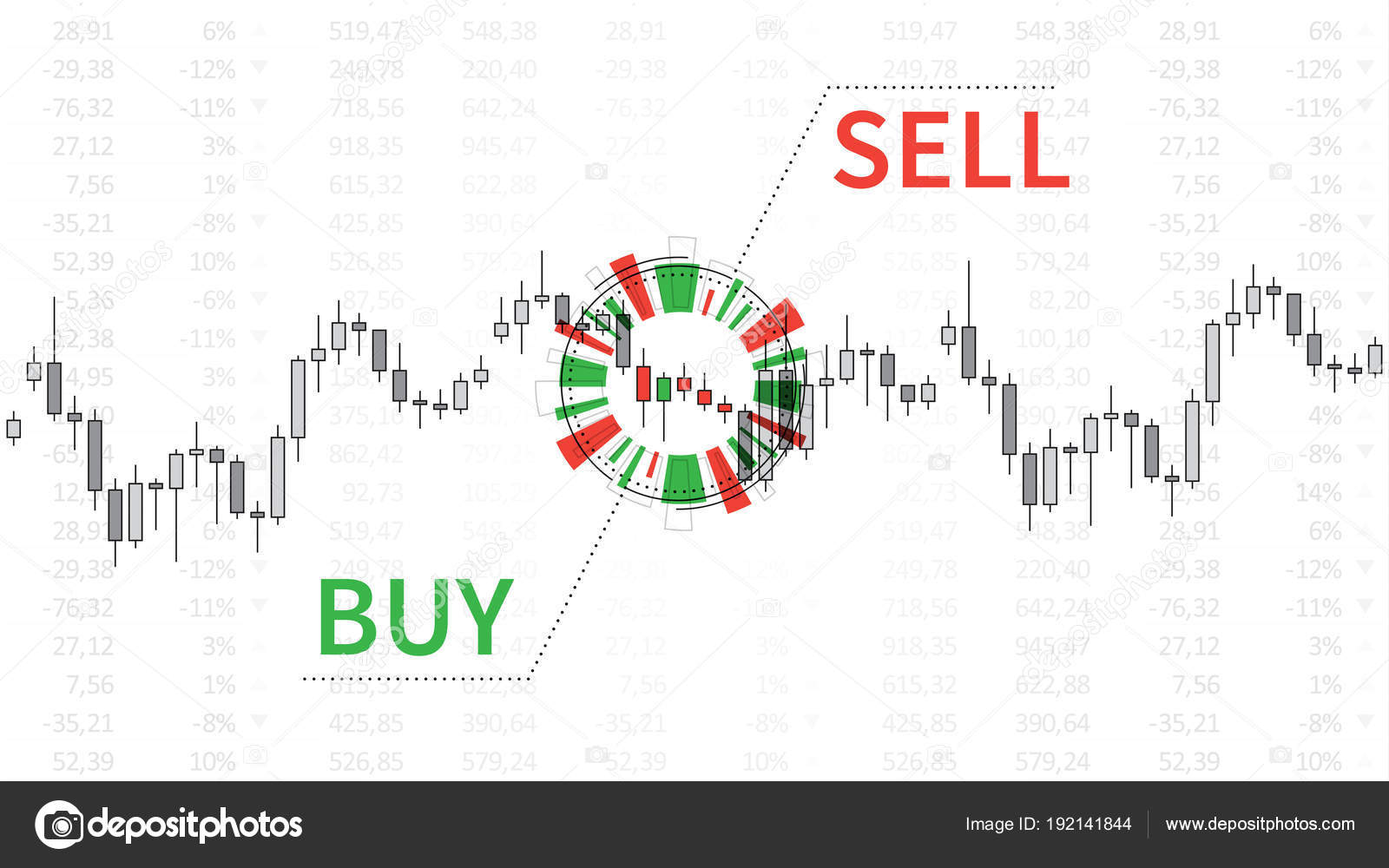 stock market chart with graphic elements vector illustration stock