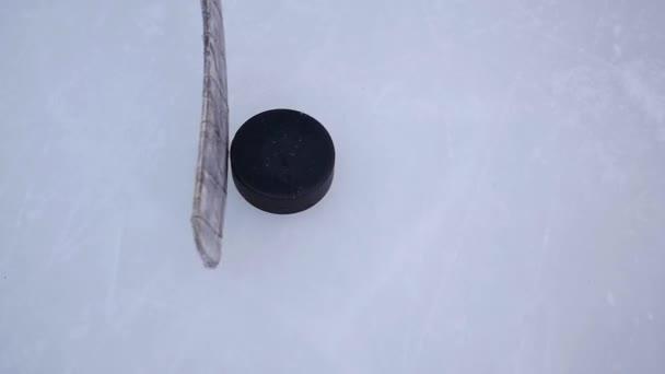 ovládací prvky stick driblování PUK na zimní stadion detailní