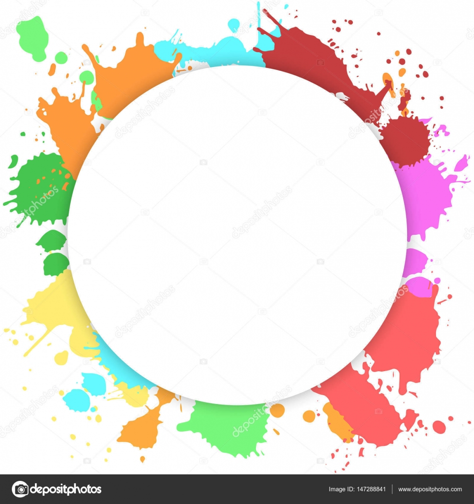 Vector template with paint splashes — Stock Vector © Hmarka