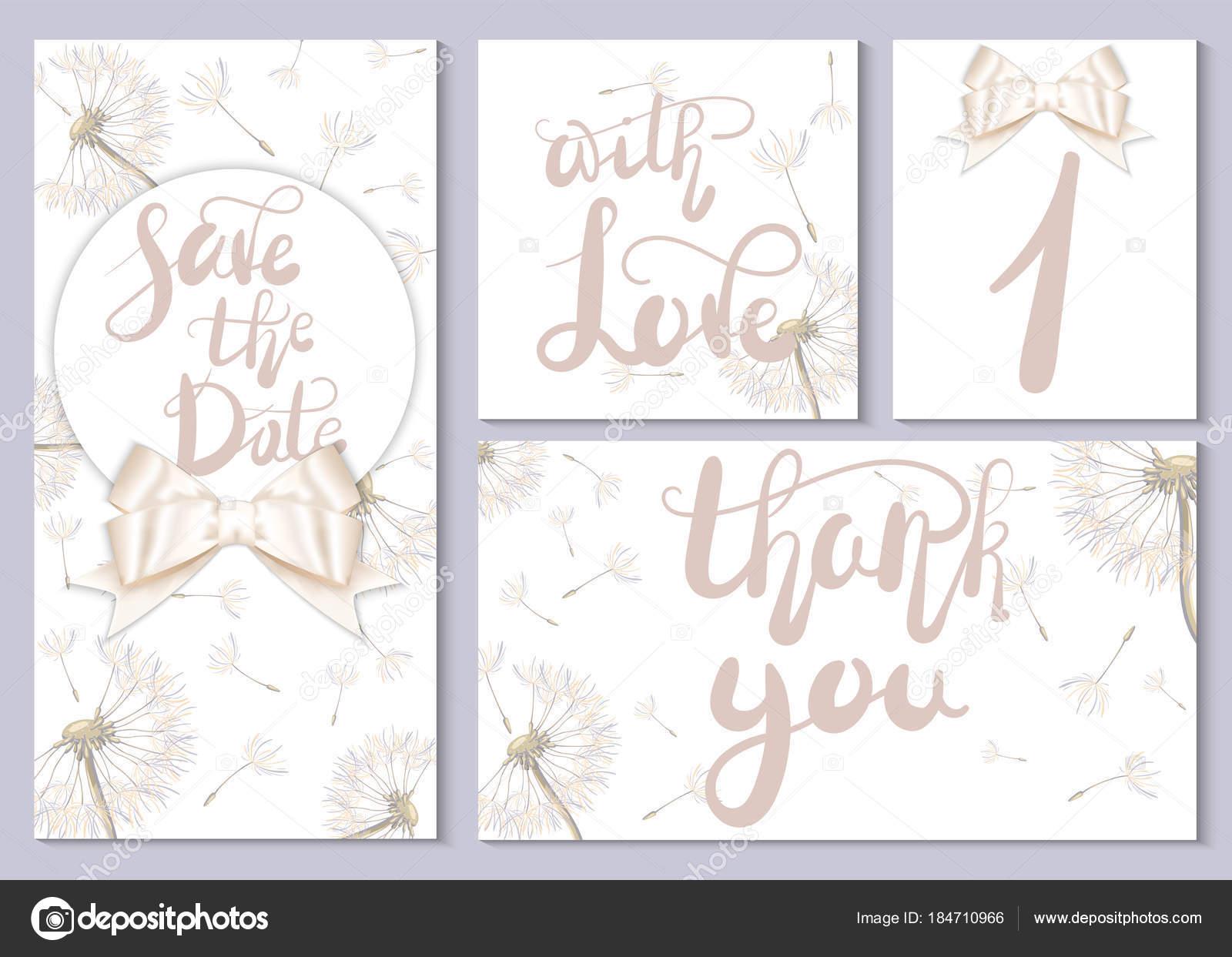 Eine Reihe Von Hochzeitskarten Und Einladungen Karten Mit