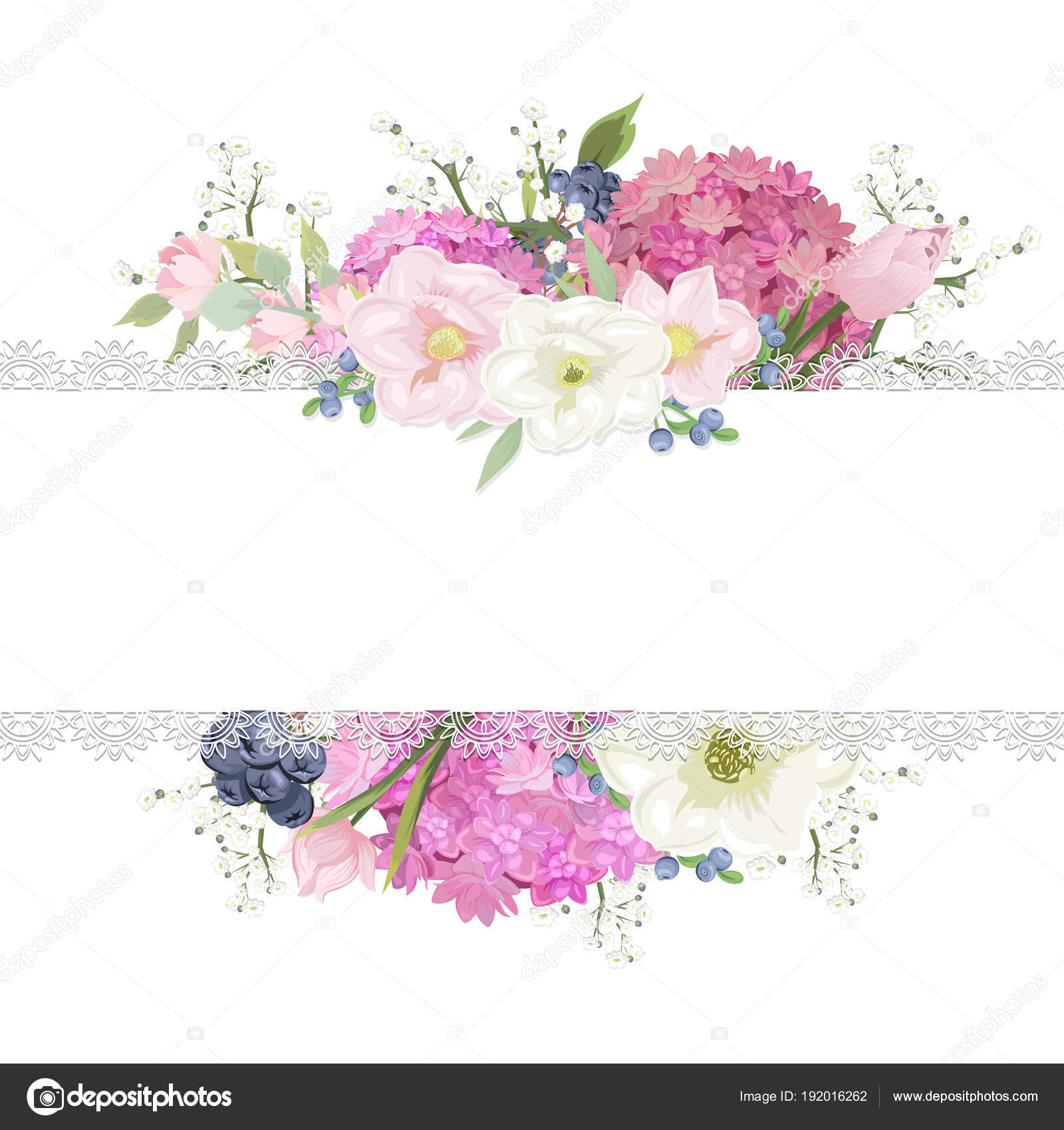 White Background Pink Bouquet Ideal Wedding Invitations Greeting ...
