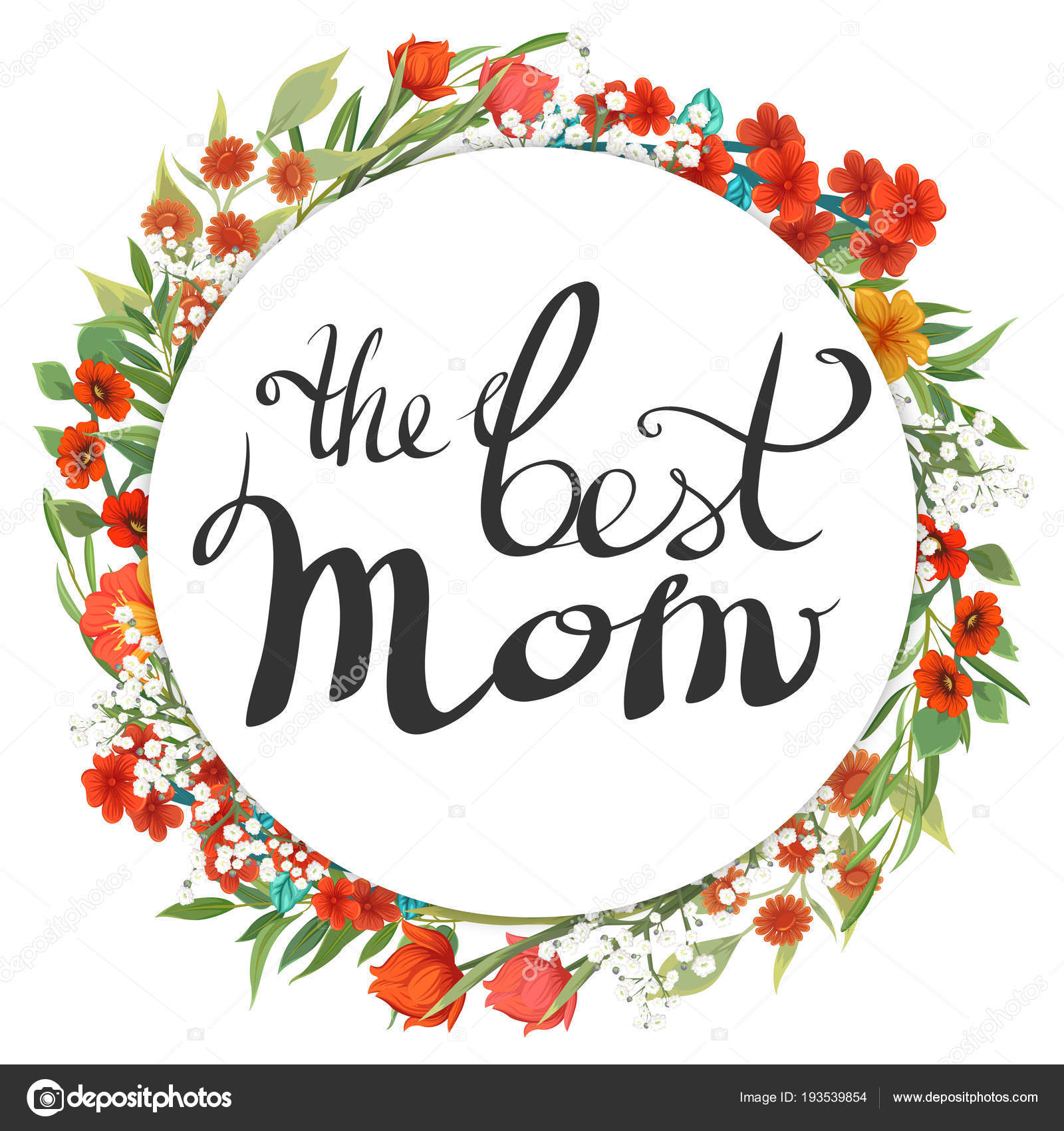 best mom congratulations mother day template flowers stock vector