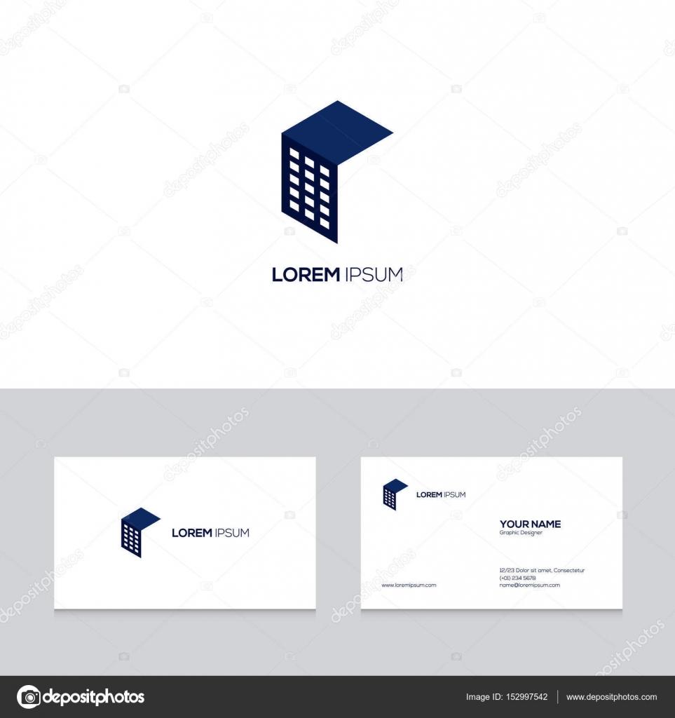 Abstrakte Immobilien Logodesign Auf Visitenkarte Vorlage