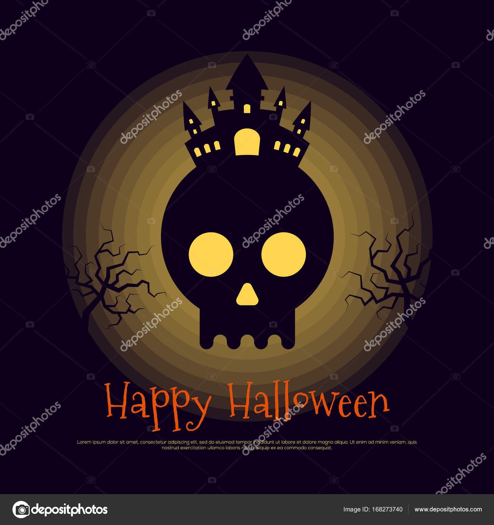 happy halloween poster template background stock vector