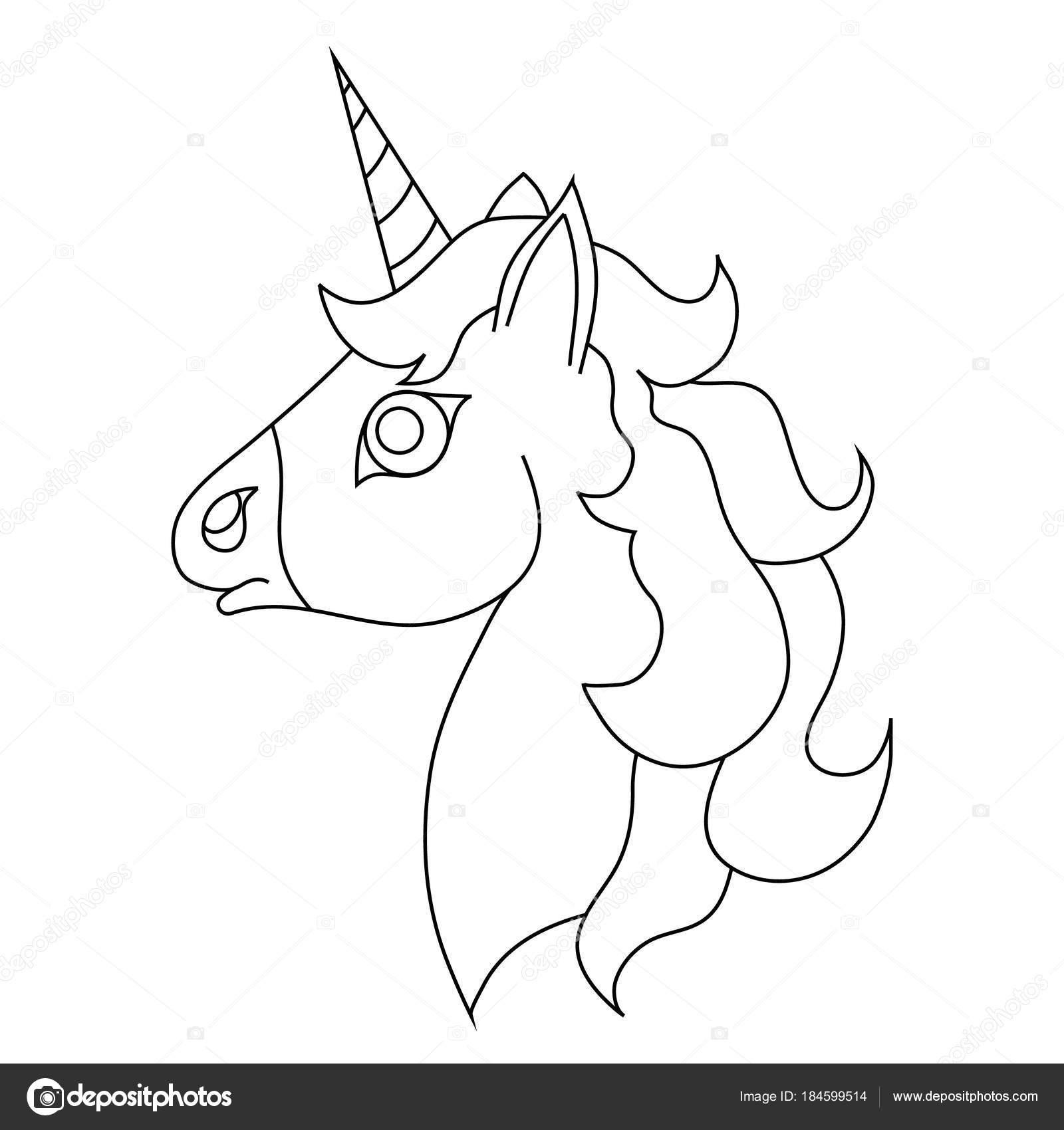 Imágenes Contorno De Unicornio El Contorno De La Cabeza Del