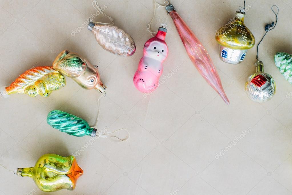 Фотообои игрушки ретро Рождество и Новый год