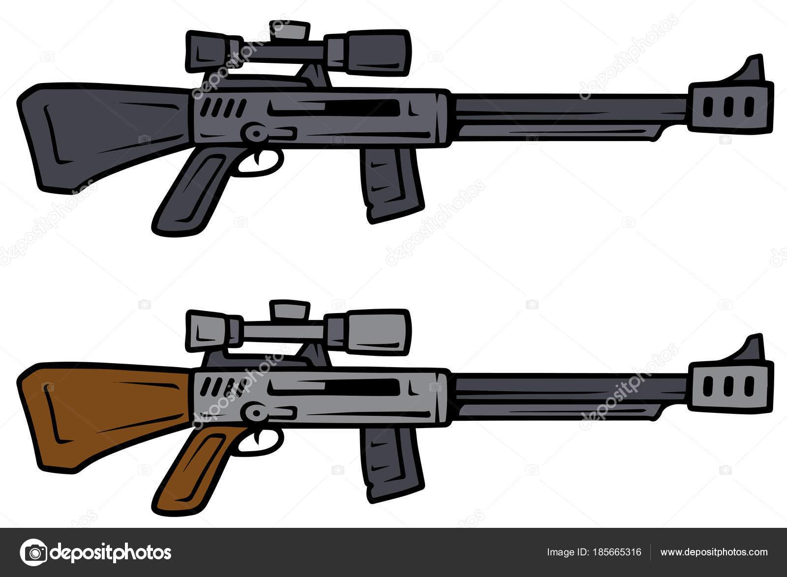 漫画スナイパーライフルのベクトルの武器
