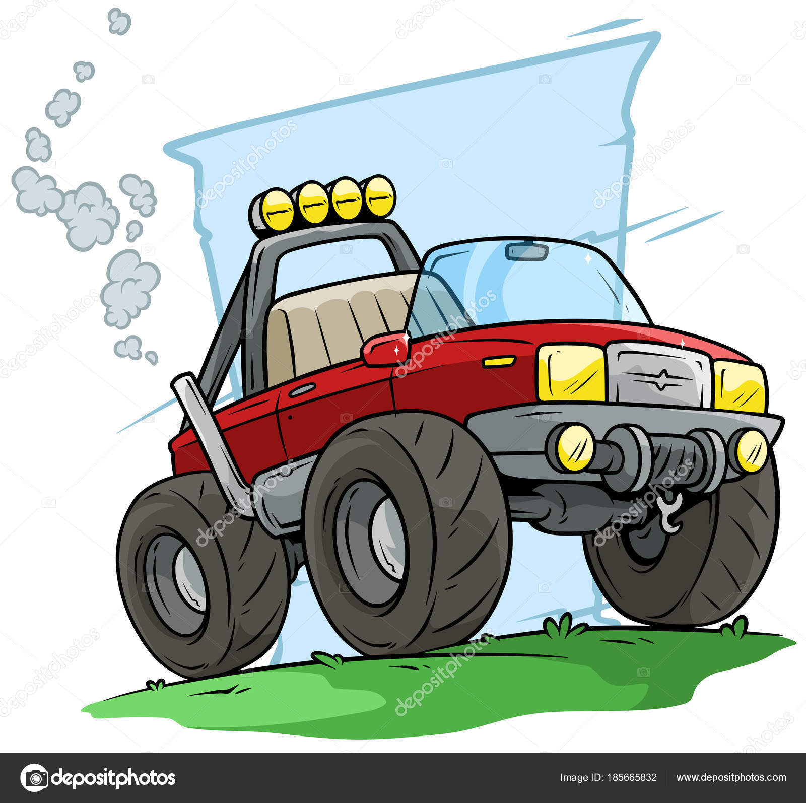Cartoon-rot off Road Monster-truck — Stockvektor © GB_Art #185665832