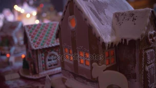 Weihnachten-Lebkuchen-Haus. Neujahr-Atmosphäre