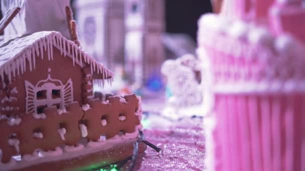 Vánoční Perníková chaloupka. Nový rok atmosféra