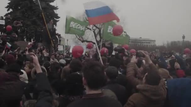 SAINT-PETERSBURG, RUSSIA, APRIL 26, 2017. Russian protest. Anti Putin slogans