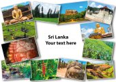 Koláž z obrázků ze Srí Lanky