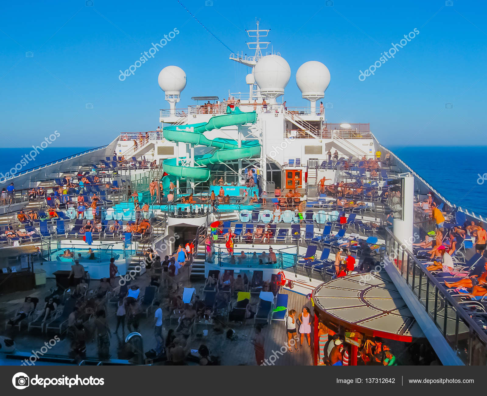 Miami, USA - January 12, 2014: Carnival Glory Cruise Ship ...