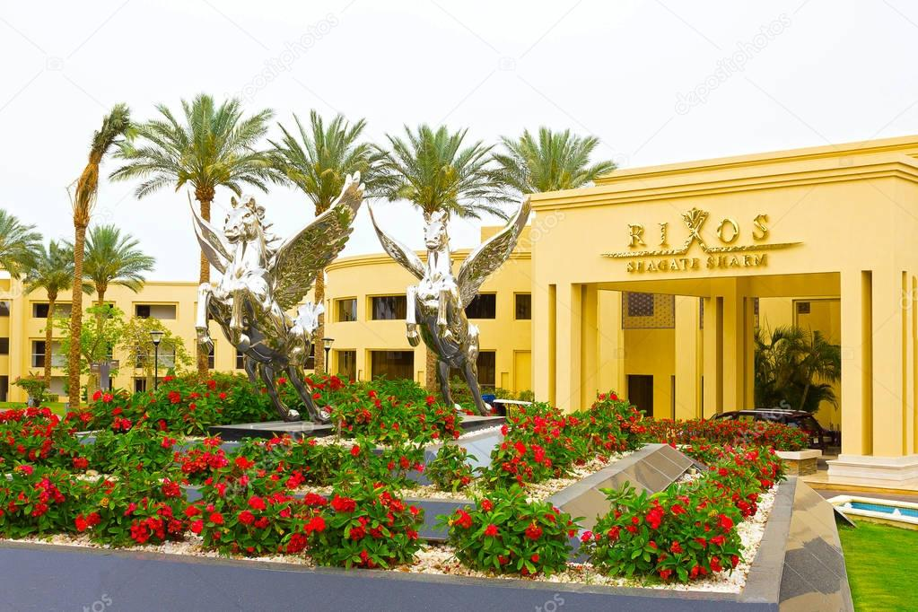 Sharm El Sheikh, Egypt - April 13, 2017: The luxury five star hotel RIXOS SEAGATE SHARM