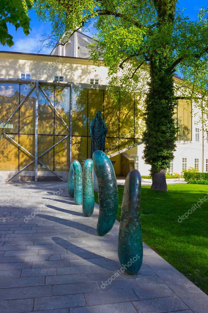 Salzburg, Austria - May 01, 2017: The Salzburg University facade in Austria