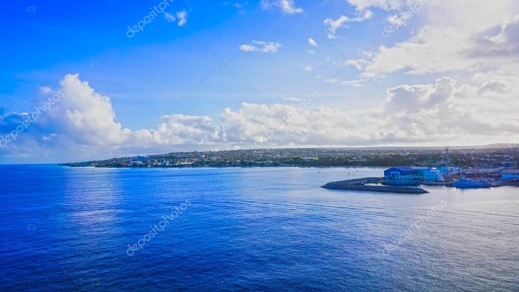 Entering the port on the island of Barbados