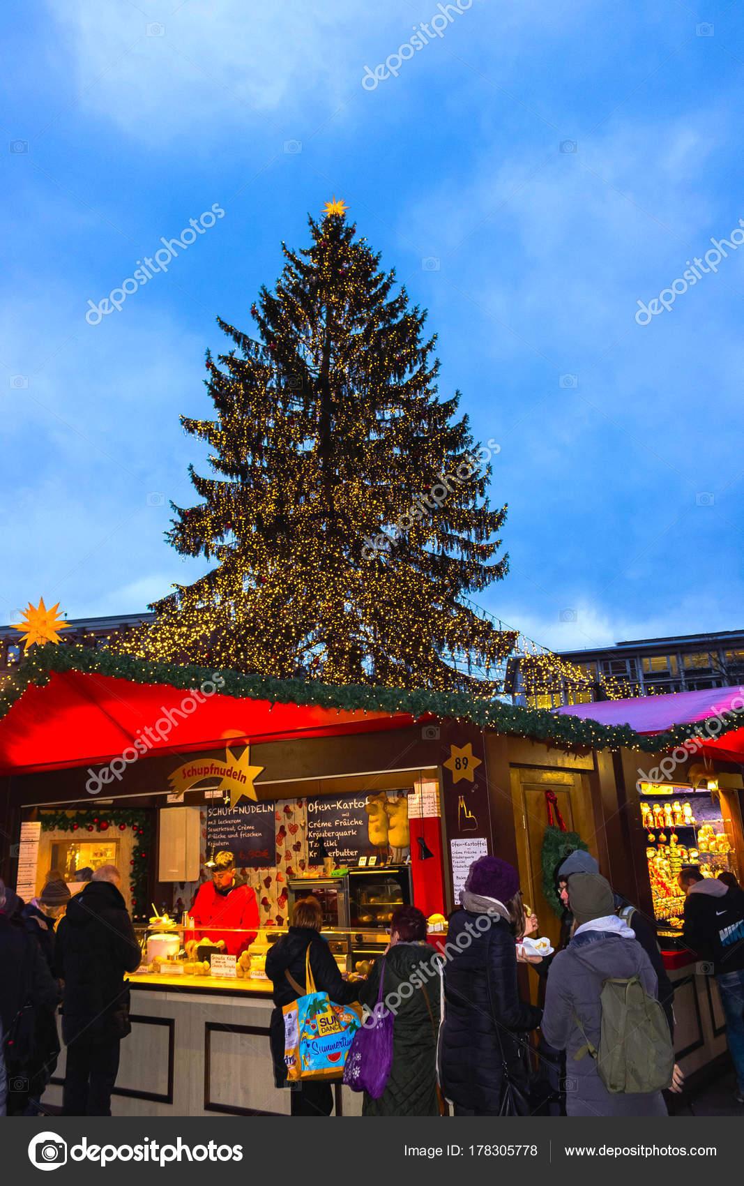 Koln Duitsland 15 December 2017 Kerstmarkt In De Buurt Van De