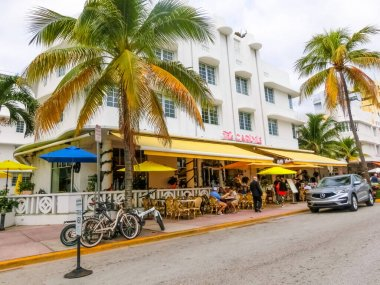 Miami, United States of America - November 30, 2019: Carlyle Hotel at Ocean drive in Miami Beach, Florida.