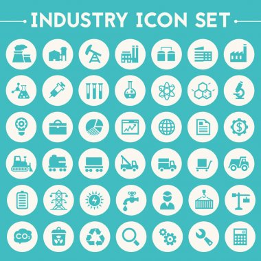 Big Industry icons set