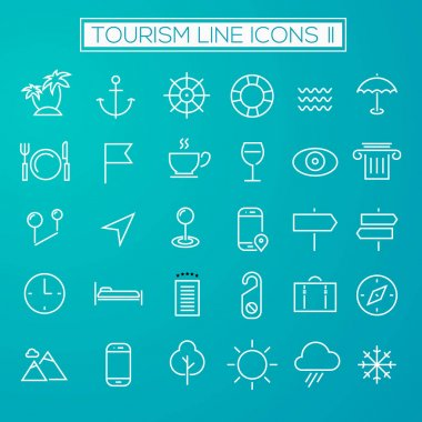 Inline Tourism Icons