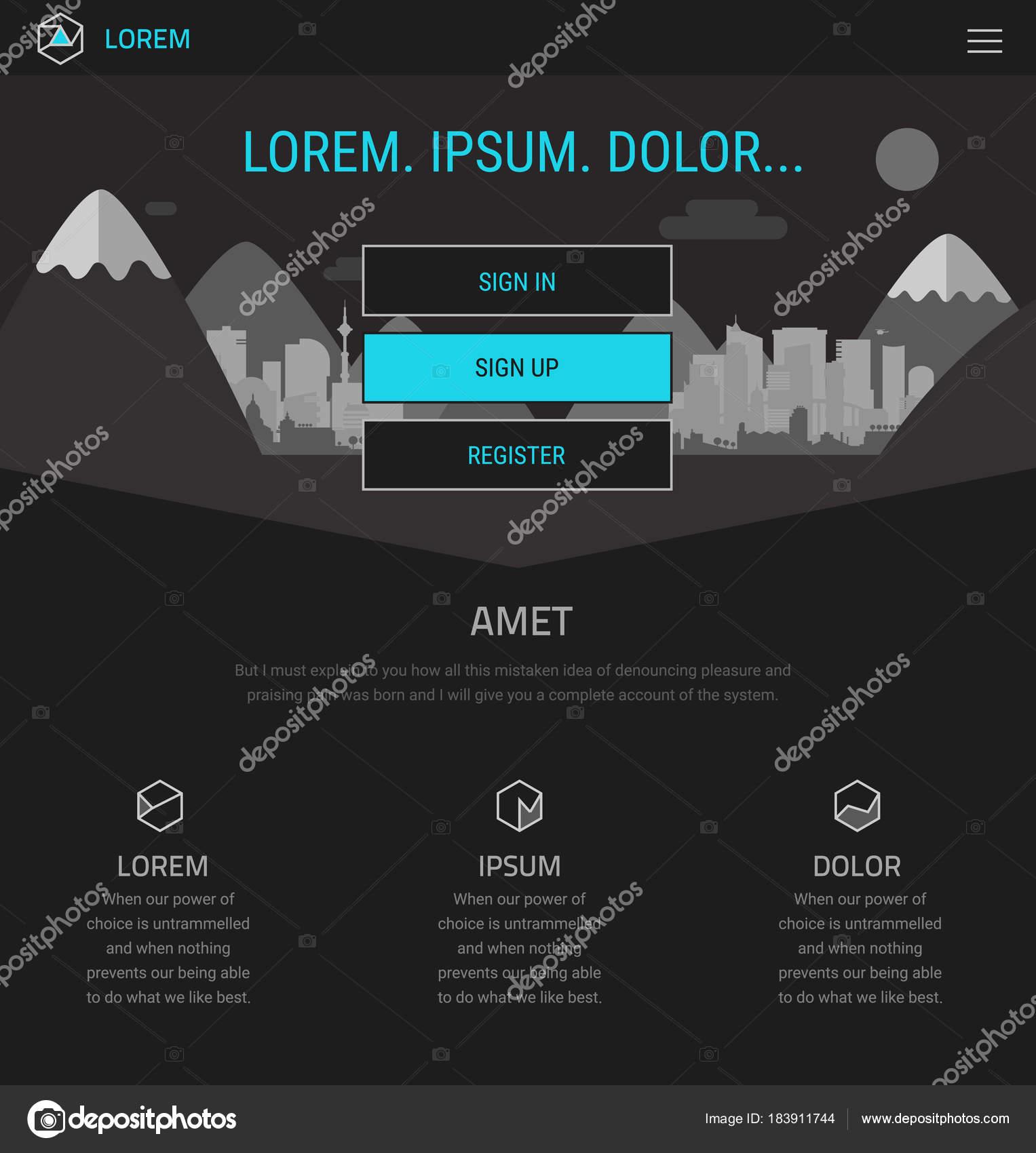 Página Moda Inicio Sensible Plantilla Del Sitio Web Una Página ...