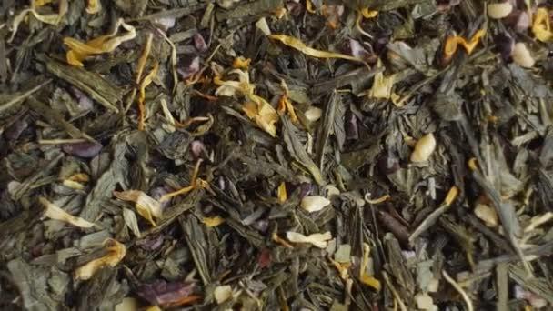 Zöld tea közelről. Loopable forgatás.
