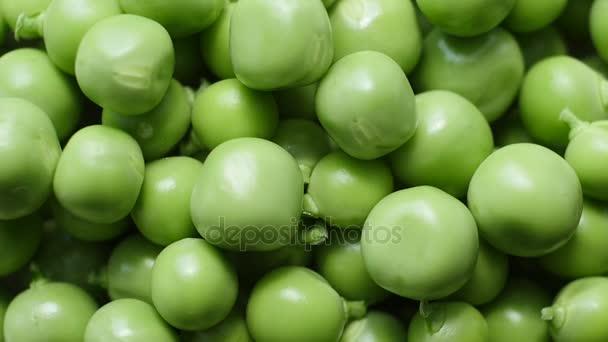 Grüne Erbsen drehen, Top Aussicht.