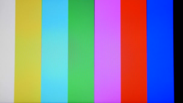 tv static noise color bars signal