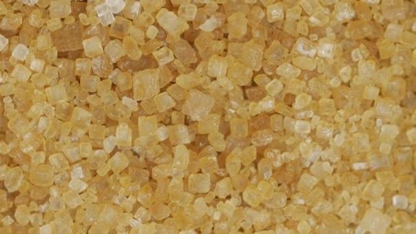 Hnědý cukr z cukrové třtiny, otáčení