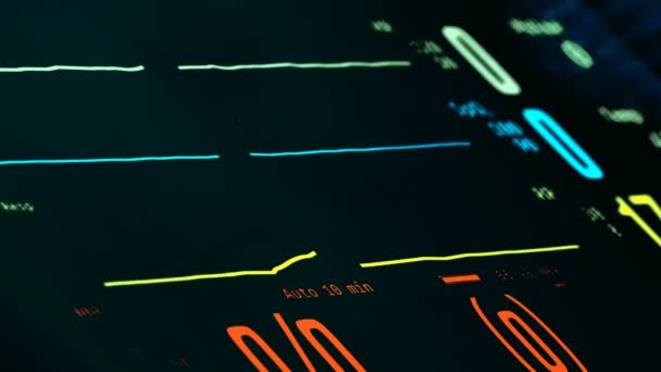Patients revival in resuscitation room, ICU monitor with rising vital signs