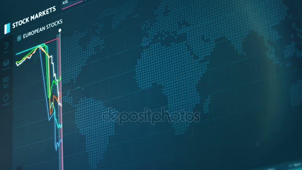 Europäische Aktienindizes stürzen ab, abrupter Fall, Finanzkrise