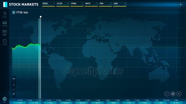 London stock exchange index Ftse 100 spadajícímu za hanobení, akciovém trhu crash